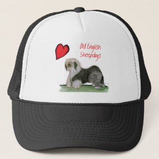 we luv old english sheepdogs, Tony Fernandes Trucker Hat