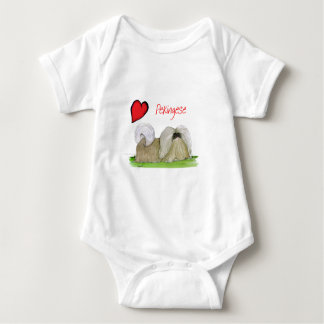 we luv pekingese from Tony Fernandes Baby Bodysuit