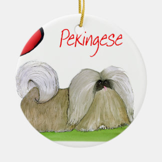 we luv pekingese from Tony Fernandes Ceramic Ornament