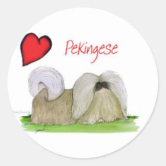 we luv pekingese from Tony Fernandes Round Sticker