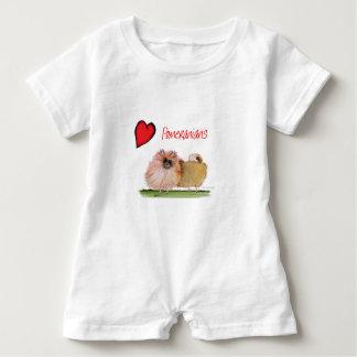 we luv pomeranians from Tony Fernandes Baby Bodysuit