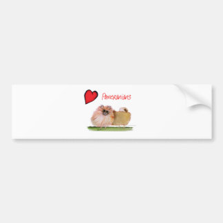 we luv pomeranians from Tony Fernandes Bumper Sticker