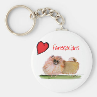 we luv pomeranians from Tony Fernandes Key Ring