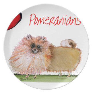 we luv pomeranians from Tony Fernandes Plate