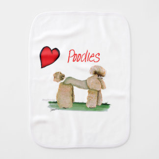 we luv poodles from Tony Fernandes Burp Cloths