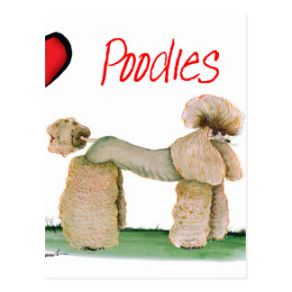 we luv poodles from Tony Fernandes Postcard