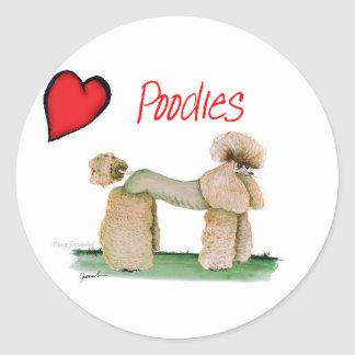 we luv poodles from Tony Fernandes Round Sticker