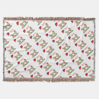 we luv poodles from Tony Fernandes Throw Blanket