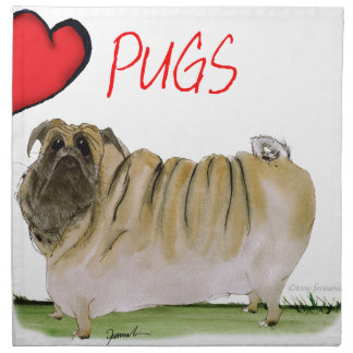 we luv pugs from Tony Fernandes Napkin