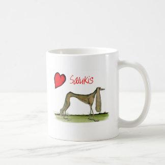 we luv salukis from Tony Fernandes Coffee Mug