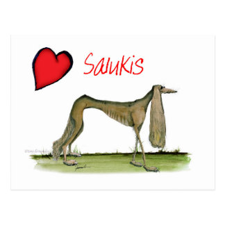 we luv salukis from Tony Fernandes Postcard
