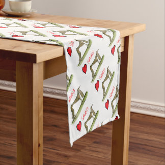 we luv salukis from Tony Fernandes Short Table Runner