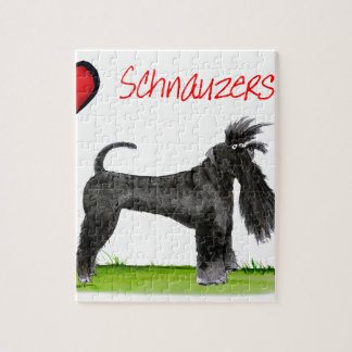 we luv schnauzers from tony fernandes jigsaw puzzle