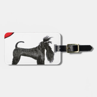 we luv schnauzers from tony fernandes luggage tag