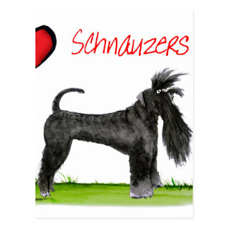 we luv schnauzers from tony fernandes postcard