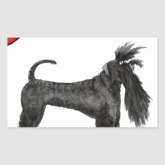 we luv schnauzers from tony fernandes rectangular sticker