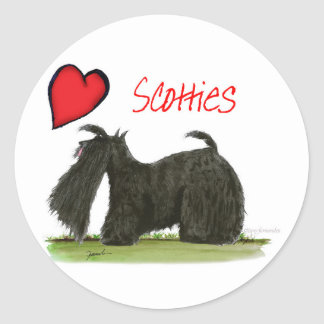we luv scotties from Tony Fernandes Classic Round Sticker