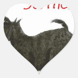 we luv scotties from Tony Fernandes Heart Sticker