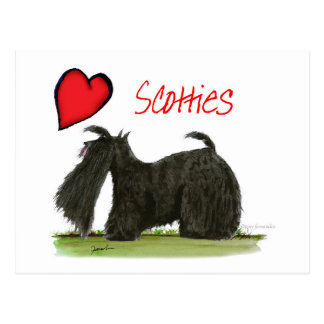 we luv scotties from Tony Fernandes Postcard