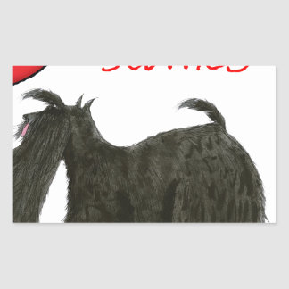 we luv scotties from Tony Fernandes Rectangular Sticker