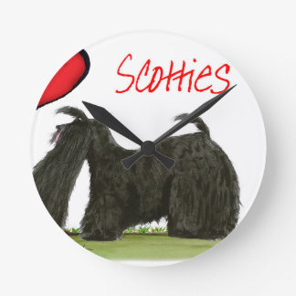 we luv scotties from Tony Fernandes Round Clock