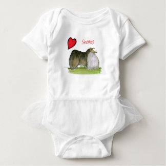 we luv shetland sheepdogs from Tony Fernandes Baby Bodysuit
