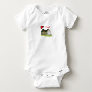 we luv shetland sheepdogs from Tony Fernandes Baby Onesie