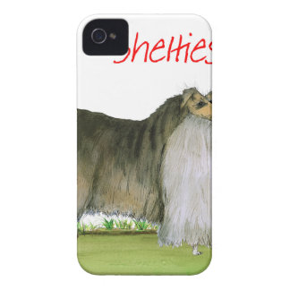 we luv shetland sheepdogs from Tony Fernandes iPhone 4 Cover