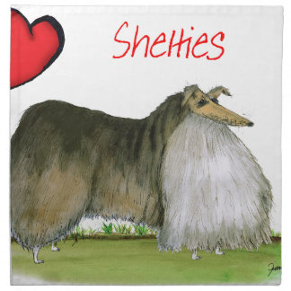 we luv shetland sheepdogs from Tony Fernandes Napkin