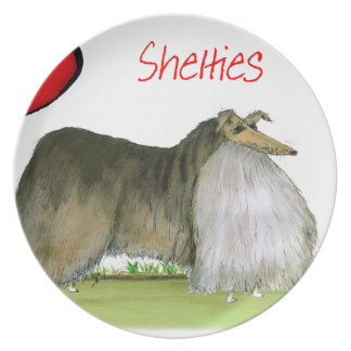 we luv shetland sheepdogs from Tony Fernandes Plate