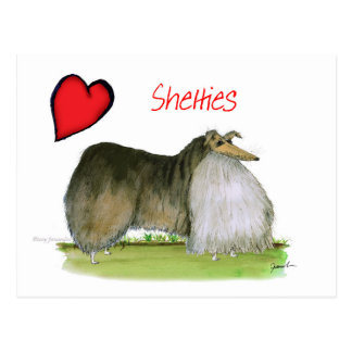 we luv shetland sheepdogs from Tony Fernandes Postcard