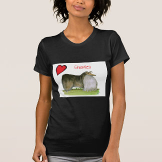 we luv shetland sheepdogs from Tony Fernandes T-Shirt