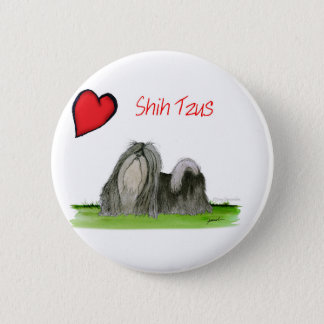 we luv shih tzus from Tony Fernandes 6 Cm Round Badge