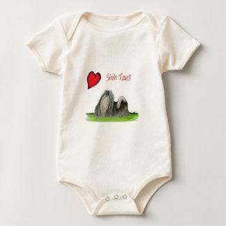 we luv shih tzus from Tony Fernandes Baby Bodysuit