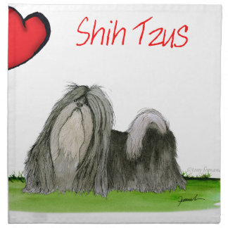 we luv shih tzus from Tony Fernandes Napkin