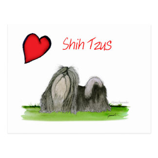 we luv shih tzus from Tony Fernandes Postcard