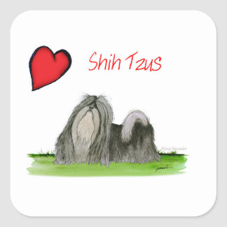 we luv shih tzus from Tony Fernandes Square Sticker