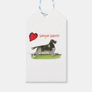 we luv springer spaniels from Tony Fernandes Gift Tags