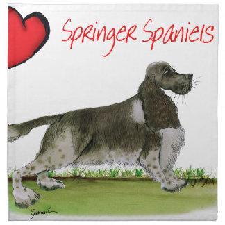 we luv springer spaniels from Tony Fernandes Napkin