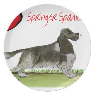 we luv springer spaniels from Tony Fernandes Plate