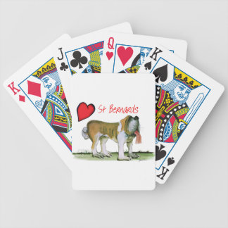 we luv st bernards from Tony Fernandes Bicycle Playing Cards