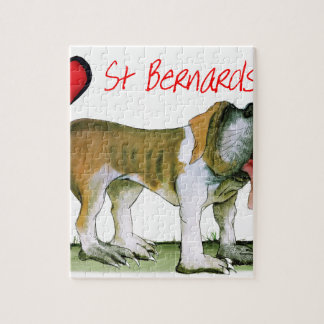 we luv st bernards from Tony Fernandes Jigsaw Puzzle