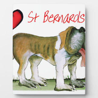 we luv st bernards from Tony Fernandes Plaque