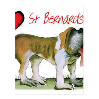 we luv st bernards from Tony Fernandes Postcard