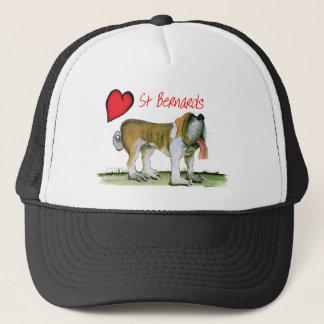 we luv st bernards from Tony Fernandes Trucker Hat