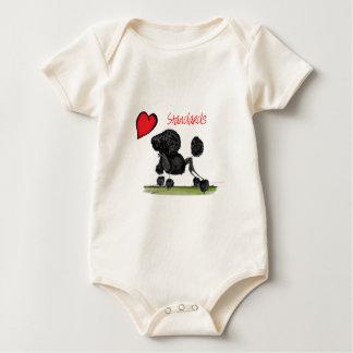 we luv standard poodles from Tony Fernandes Baby Bodysuit