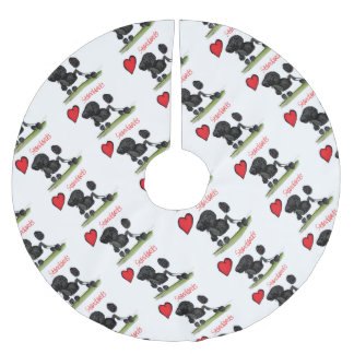 we luv standard poodles from Tony Fernandes Brushed Polyester Tree Skirt