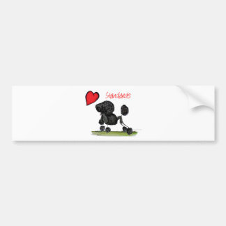 we luv standard poodles from Tony Fernandes Bumper Sticker