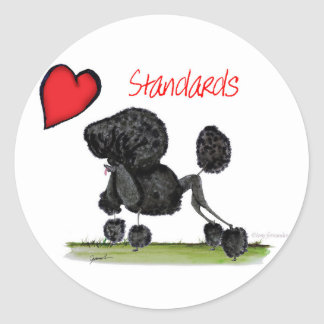 we luv standard poodles from Tony Fernandes Classic Round Sticker