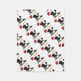we luv standard poodles from Tony Fernandes Fleece Blanket